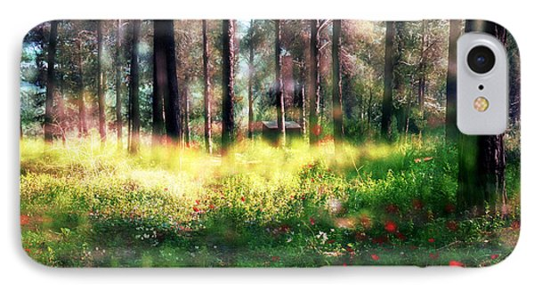 IPhone Case featuring the photograph Cabin In The Woods In Menashe Forest by Dubi Roman