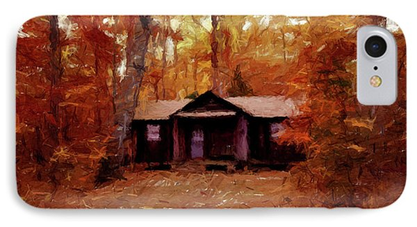 Cabin In The Woods P D P IPhone Case by David Dehner