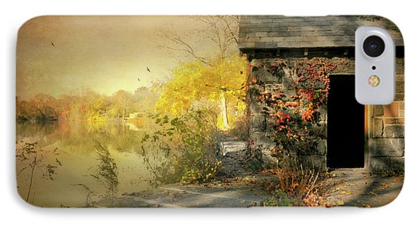 Cabin On The Reservoir IPhone Case by Diana Angstadt