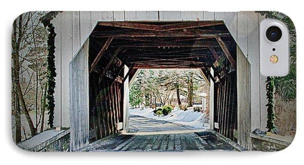 Cabin Run Covered Bridge IPhone Case