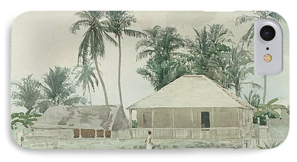 Cabins, Nassau IPhone Case by Winslow Homer