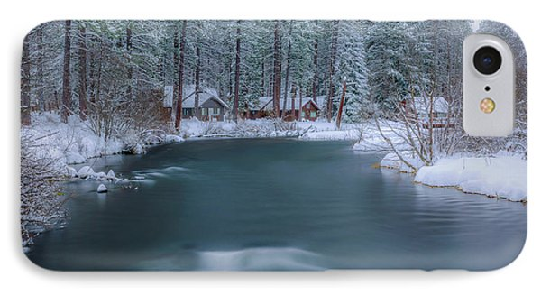 IPhone Case featuring the photograph Cabins On The Metolius by Cat Connor