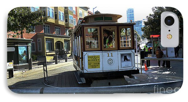 Cable Car Turnaround IPhone Case by Steven Spak