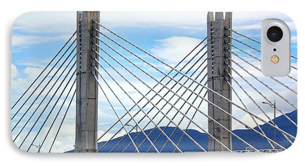 IPhone Case featuring the photograph Cable Stayed Bridge With Two Pylons by Yali Shi