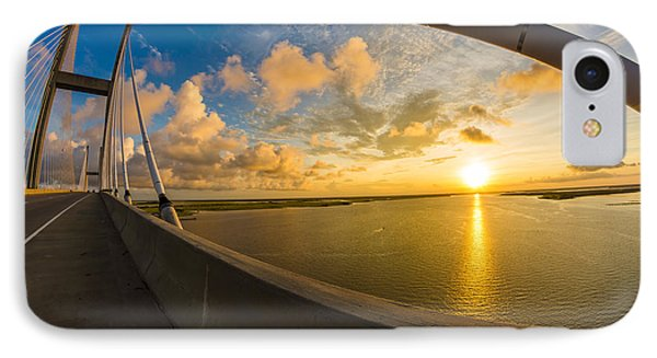 Cables Bend At Sunset IPhone Case by Chris Bordeleau