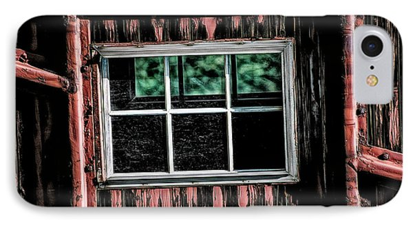 IPhone Case featuring the photograph Caboose Window by Brad Allen Fine Art