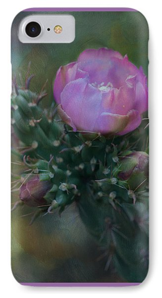 Cactus Bloom IPhone Case by Carolyn Dalessandro