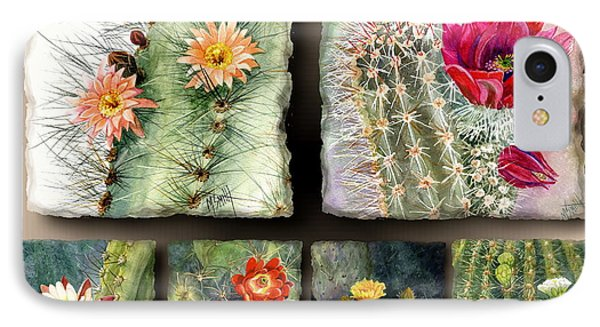 IPhone Case featuring the painting Cactus Collage 10 by Marilyn Smith