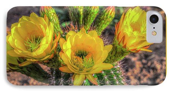 Cactus Flower IPhone Case by Mark Dunton