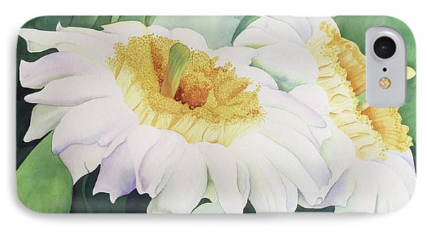 IPhone Case featuring the painting Cactus Flower by Teresa Beyer