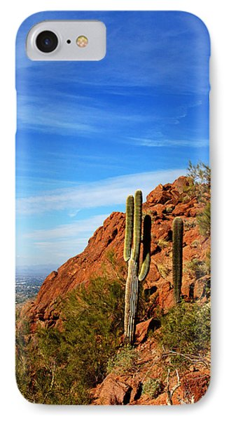 Cactus On Camelback 14x17 IPhone Case