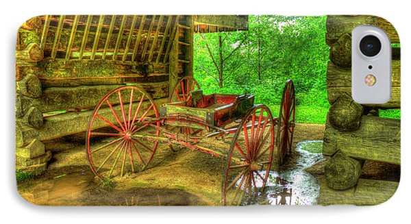 Cades Cove Carriage At Cantilever Barn IPhone Case