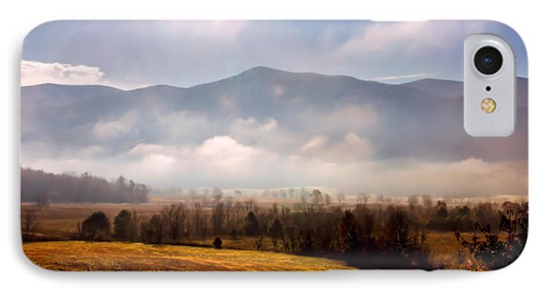 Cades Cove Misty Morn IPhone Case by Marilyn Carlyle Greiner