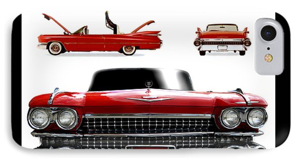 Cadillac 1959 IPhone Case by Gina Dsgn