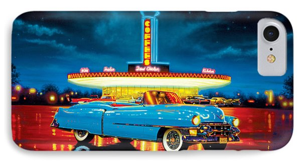 Cadillac Diner Phone Case by MGL Studio - Chris Hiett