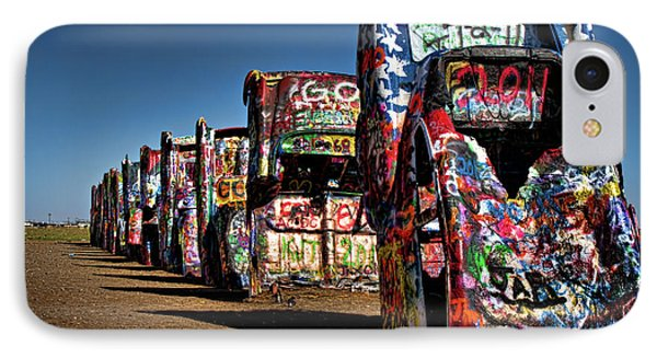 Cadillac Ranch Phone Case by Lana Trussell