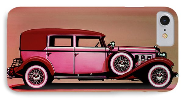 Cadillac V16 Mixed Media IPhone Case