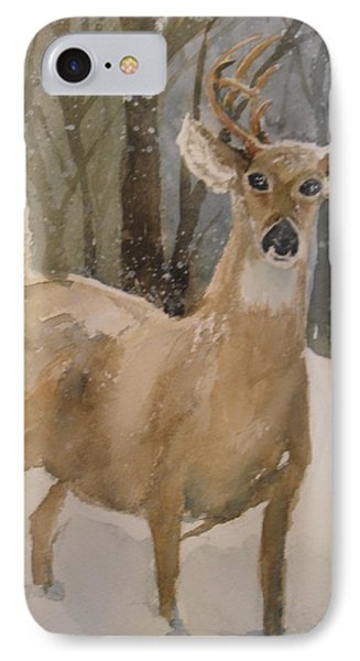 IPhone Case featuring the painting Caedmon's Buck by Sandra Strohschein