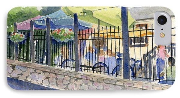 Cafe At Lock 29 IPhone Case by Marsha Elliott