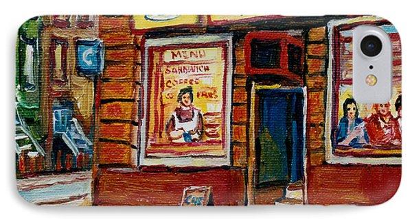 Cafe Bistro St. Viateur Phone Case by Carole Spandau