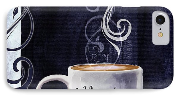 Cafe Blue IIi IPhone Case by Mindy Sommers
