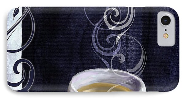 Cafe Blue Iv IPhone Case by Mindy Sommers