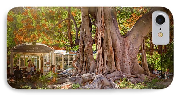 Cafe By The Grand Old Tree Lisbon Portugal IPhone Case