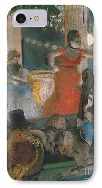 Cafe Concert At Les Ambassadeurs IPhone Case by Edgar Degas