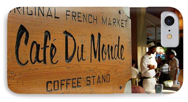 Cafe Du Monde IPhone Case by KG Thienemann