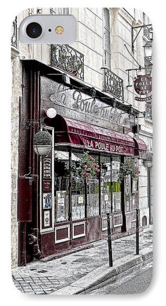 Cafe In Paris Phone Case by J Pruett
