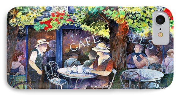 Cafe Jules IPhone Case by Lisa Graa Jensen