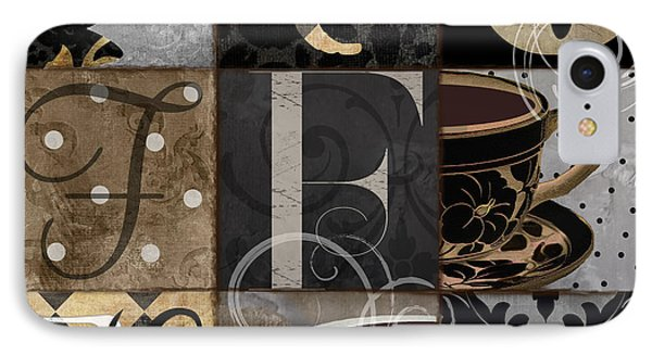 Cafe Noir Patchwork IPhone Case by Mindy Sommers