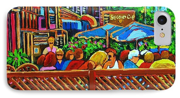 Cafe Second Cup IPhone Case by Carole Spandau