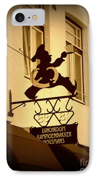 Cafe Sign In Holland Phone Case by Carol Groenen
