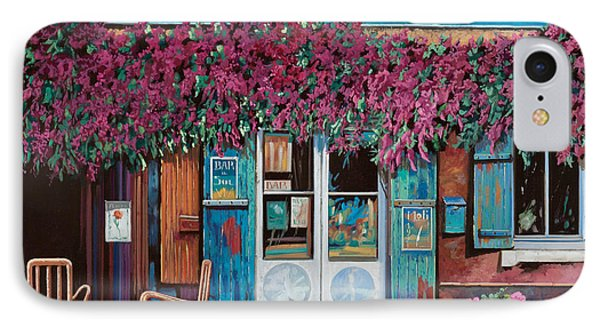 caffe del Aigare IPhone Case by Guido Borelli