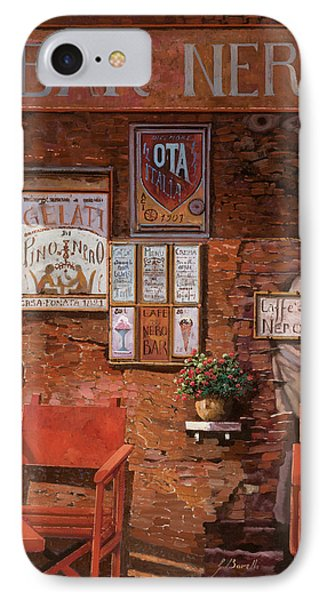 caffe Nero IPhone Case by Guido Borelli