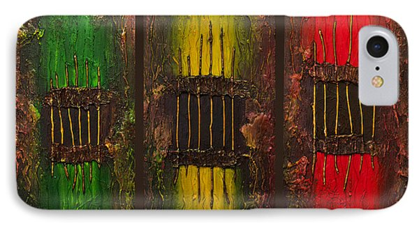 IPhone Case featuring the painting Caged Abstract by Patricia Lintner