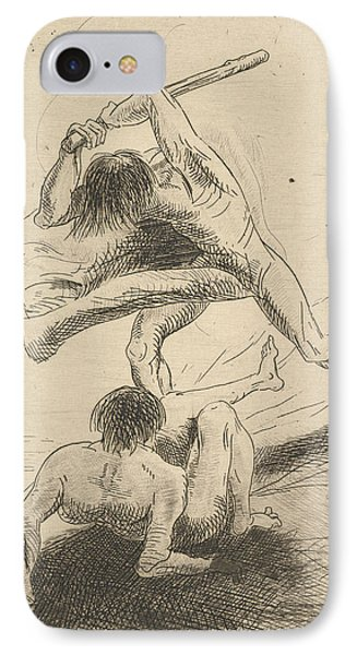 Cain And Abel IPhone Case by Odilon Redon