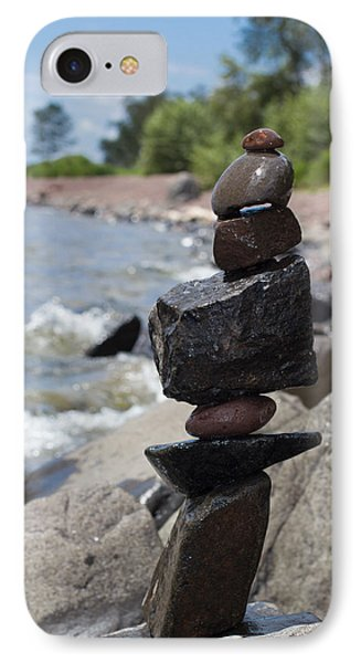 Cairn Meditation Stones In Color IPhone Case by Heidi Hermes