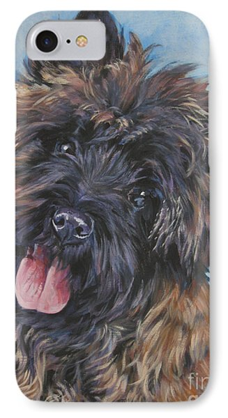 Cairn Terrier Brindle Phone Case by Lee Ann Shepard