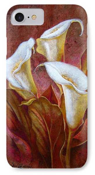 Cala Lillies Bouquet IPhone Case