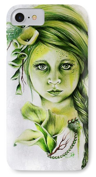 IPhone Case featuring the drawing Cala by Sheena Pike