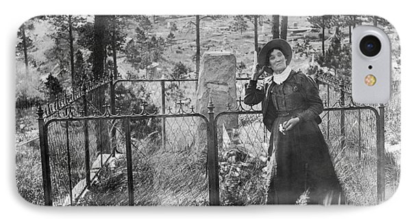 IPhone Case featuring the photograph Calamity Jane At Wild Bill Hickok's Grave 1903 by Daniel Hagerman