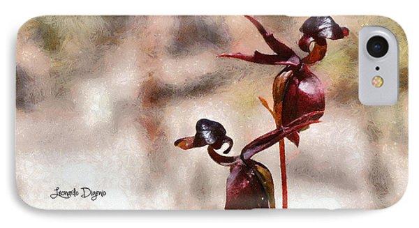 Caleana Major Flower - Da IPhone Case by Leonardo Digenio