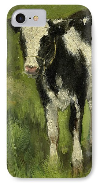 Calf, Black And White Spotted IPhone Case