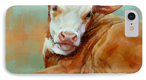 Calf Resting IPhone Case by Margaret Stockdale
