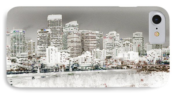 IPhone Case featuring the digital art Calgary Skyline 3 by Stuart Turnbull