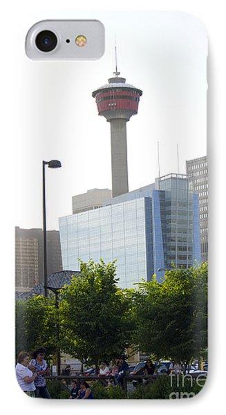 Calgary Tower View 2 Phone Case by Donna Munro
