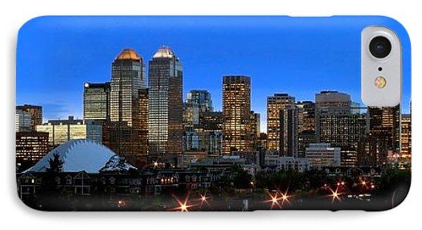 Calgarys Skyline Phone Case by Richard Wear