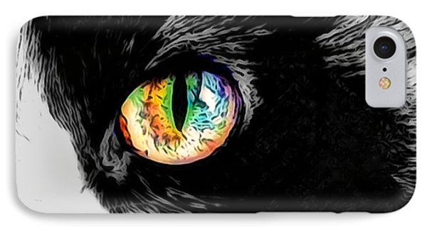 Calico Cat With A Splash IPhone Case by Kathy Kelly